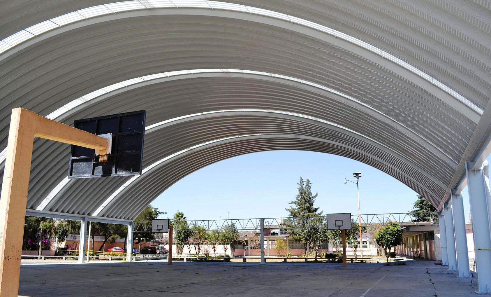 Inauguran en tultitl n techo domo deportivo en escuela for Imagenes de techados