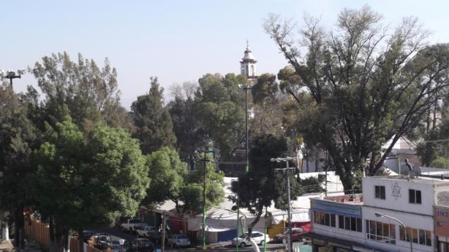 Vista de la plaza de San Cristóbal, entre las calles Juárez y Vicente Villada. Foto: Jorge Villa