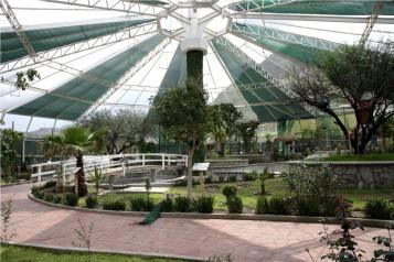 Aviario ubicado en el Parque Ecológico Ehécatl, en San Cristóbal Ecatepec. Foto: C.S.