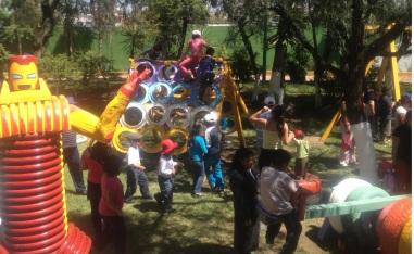 Juegos y diversión en un espacio sano para todos. Foto: CSFCH