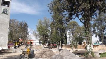 Estado de la plaza principal de la cabecera municipal. Foto: Jorge Villa