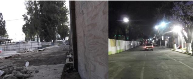 A la izquierda, la remodelación de la plaza, inconclusa; a la derecha, la calle Adolfo López Mateos: Foto: Jorge Villa