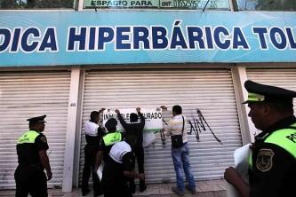 Clausuran clínica. Foto tomada de Reforma