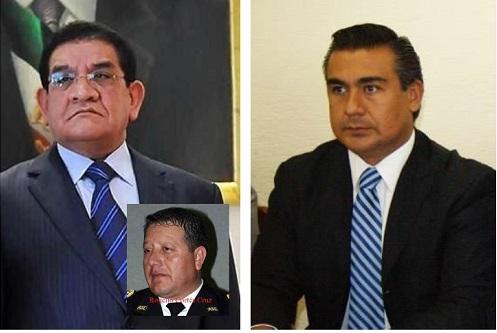 Damián Canales Mena es el nuevo secretario de Seguridad Ciudadana a partir del 4 de abril; a la derecha, el diputado local Octavio Martínez Vargas. Foto: Archivo