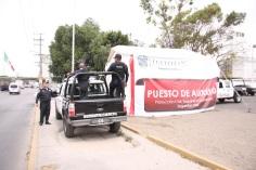 El módulo de auxilio se ubica en sobre la avenida José López Portillo, a la altura del asta bandera. Foto: C. S. Tultitlán