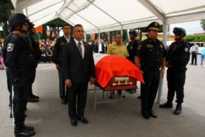 Homenaje al policía asesinado. Foto tomada de Quadratín