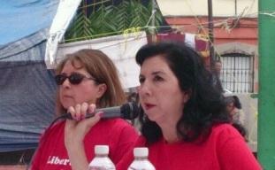 Graciela Ramírez y Amalia Rivera, del Sitrajor