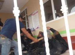 Agresión a policía ocurrida este martes. Foto: Facebook