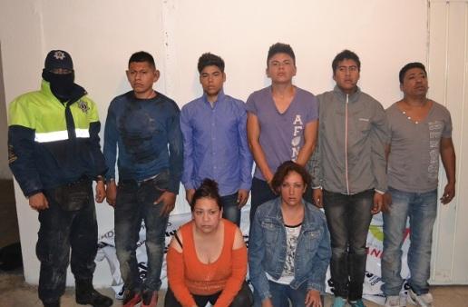 Presunta banda de delincuentes,. Foto: C. S. Ecatepec
