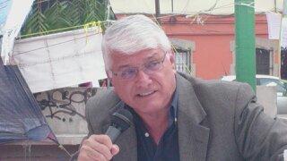 Virgilio Caballero durante su exposición