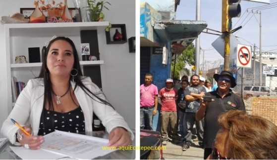 La tercer Síndica(o) del ayuntamiento de Ecatepec, Diana Méndez Aguilar, y el subdirector de Gobierno de Asuntos Políticos y Sociales de esta administración, Arturo Miranda Platas. Infografía: Jorge Villa