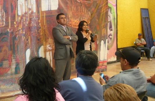 La especialista Verónica Islas, integrante de la institución Delegación Estado de México, acudió a la reunión del legislador Octavio Martínez. Fotos: CSFPI