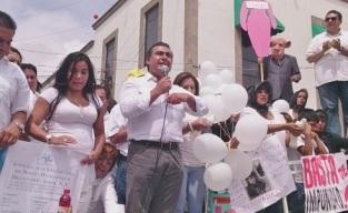 Octavio Martínez expuso en doce puntos sus propuestas derivadas de los resultados de foros ciudadanos de prevención del delito. Foto: Jorge Villa