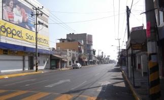 Avenida Morelos, en el centro de San CRistóbal. Foto: Jorge Villa