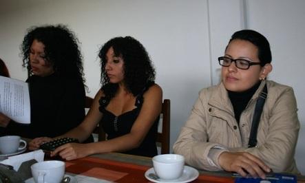 Erika Estrada, Alba Guzmán y Sol Ramírez, y la activista defensora de los derechos de las mujeres, Yadira Ivonne Uriel Cruz, en rueda de prensa. Foto: Especial