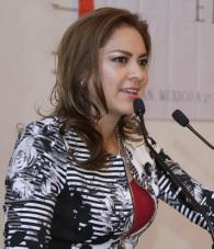 La alcaldesa de Tultitlán, Sandra Méndez Hernández. Foto: C.S.