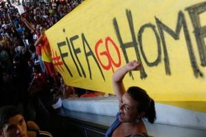 Semanas antes de que iniciara el Mundial, por las calles de Brasil. Foto: Tomada de Internet
