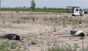 Tres de los 4 cuerpos hallados en terrenos ejidales del municipio de Tonanitla. Foto: FB