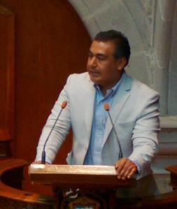 Diputado Octavio Martínez Vargas en la sesión del Congreso el sábado 14. Foto: CSPRD