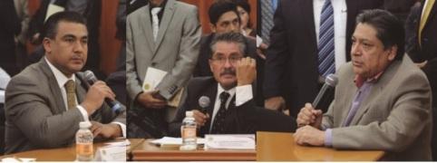 Los diputados Octavio Martínez Vargas, Silvestre García y Héctor Bautista. Foto: CSPRD