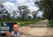 Vista del ejido de Tocuila; abajo, el también ex director general de Conagua, José Luis Luege Camargo: Fotos de Internet