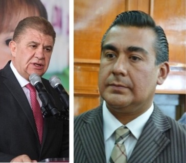 A la izquierda, el secretario general De Gobierno, José Manzur Quiroga