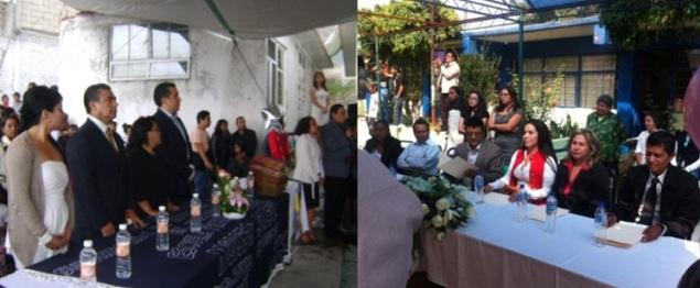 Fungen como Padrinos de Generación del lado izquierdo, el diputado Octavio Martínez Vargas y del derecho, la síndico Diana Méndez Aguilar. Fotos: CSFPI