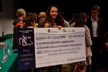 Chantal y su premio