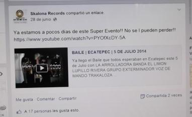 Página de Skalona Records en Facebook. Foto: Jorge Villa