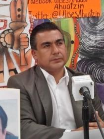 Octavio Martínez Vargas, diputado local, en conferencia de prensa. Foto: Jorge Villa