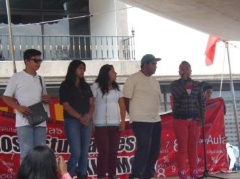 La dirigente de los jóvenes en Ecatepec-Texcoco, declaró que los estudiantes no desistirán en su lucha