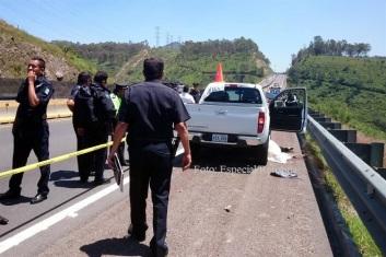 Momentos antes del percance, en tanto vigilaban el triple homicidio: Foto: Tomada de Reforma