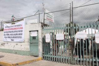Protesta por instalaciones inapropiadas. Fotos: RAM
