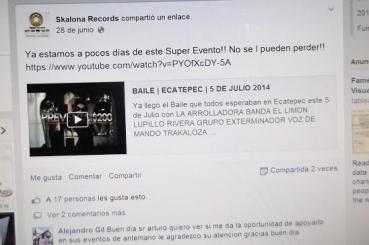 Vísperas del evento organizado por Skalona Records en imagen de Facebbok. Foto: ViAcomunicaciones