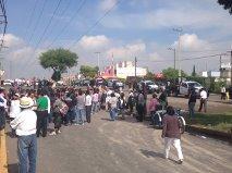 En la calle de Dalias, el tradicional tianguis se vio afectado este domingo. Foto: R.A.