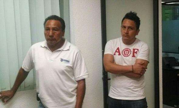 Victorino García Zaragoza, izquierda y su acompañante, fueron  denunciados ante la Mesa de Responsabilidades y la Contraloría municipales. Fotos: Fb