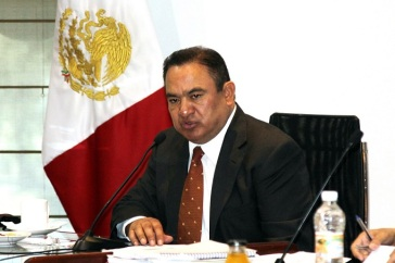 Alcalde de Ecatepec, Pablo Bedolla López, es de acuerdo al Artículo 135 del Bando municipal 2014, el único facultado para otorgar permisos para todo tipo de eventos, más si son masivos. Foto: Archivo