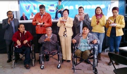 Organizadores e invitados, entre los que se encuentran Juan Carlos