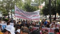 Protesta del pasado 4 de agosto, frente a las oficinas de la Sener