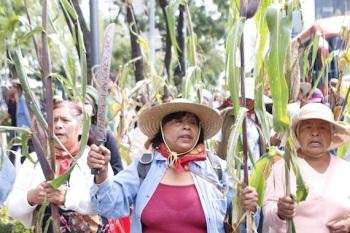 Las y los habitantes de  San Salvador Atenco estuvieron acompañados por miembros de diversas organizaciones sociales. Foto: Tomada del portal Sin Embargo