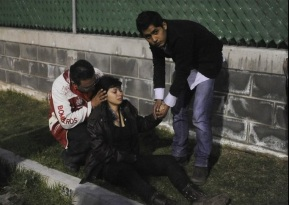 Algunos jóvenes más que heridas, padecieron la crisis normal en casos de pánico. Foto:Archivo
