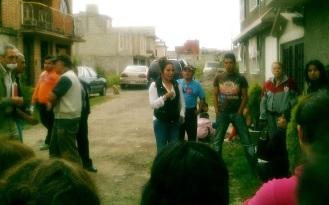 La tercer sindico Diana Méndez acudió a la comunidad a entregar los materiales y los vecinos le expresaron su gratitud, así como la del diputado Octavio Martínez