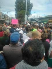 Protesta de vecinos de Ciudad Azteca 1a. Sección. Foto: RA