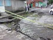 Sólo ha acudido personal de Protección Civil quien se concretó a acordonar la zona para evitar más accidentes. Fotos: CSDMA