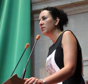 Diputada por el PRD, Ana Yurixi Leyva Piñón. Foto: CSPRD