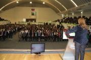 La alcaldesa Sandra Méndez dijo que hoy se tiene que trabajar juntos el tema de prevención social, para que existan menos delitos y menos delincuentes. Fotos: C. S.