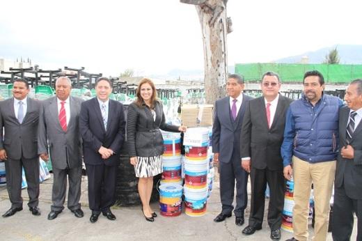 La alcaldesa de Tultitlán, Sandra Méndez,