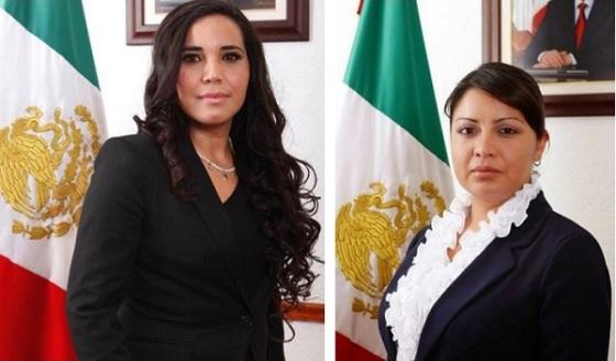 Tercer síndico, Diana Méndez Aguilar, y octava regidora, Susana García Esparza. Fotos: Archivo