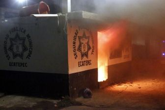 Módulo de Seguridad Pública de Ecatepec. Foto: Tomada de Reforma.com