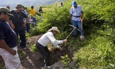 Los cerros que rodean Iguala, donde desaparecieron los estudiantes hace tres semanas, están sembrados de cadáveres anónimos. Foto: El País/España